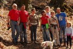 Alcuni membri del CD 01VERB al campo di Bureglio.