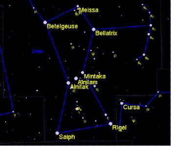 La costellazione di Orione.