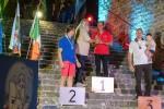 Il Consigliere Federale Pino Arpaia premia il Campione Italiano Igor Piantoni.