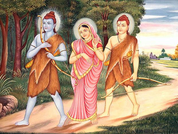 Rama, sua moglie e suo fratello vanno in esilio.